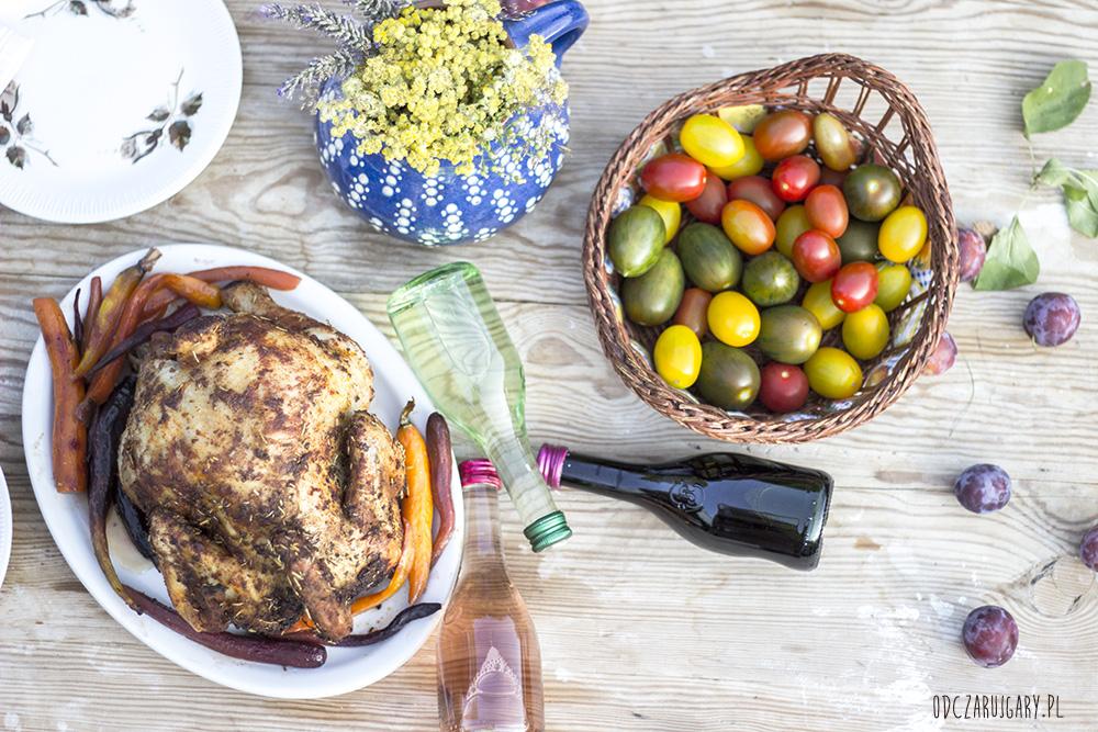 kurczak pieczony i pomidory
