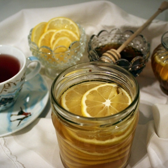 cytryny z miodem i rumem