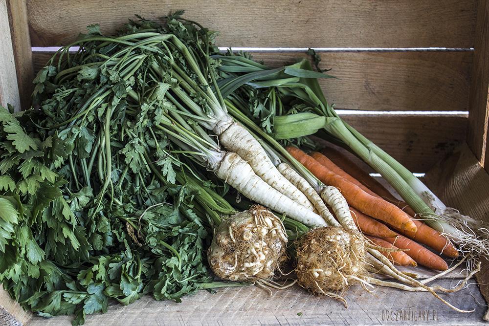 młode warzywa pieczone