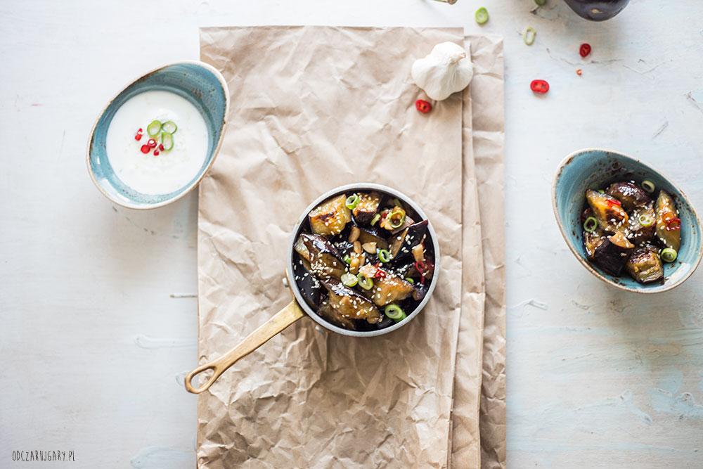 bakłażan w sosie słodko-pikantnym