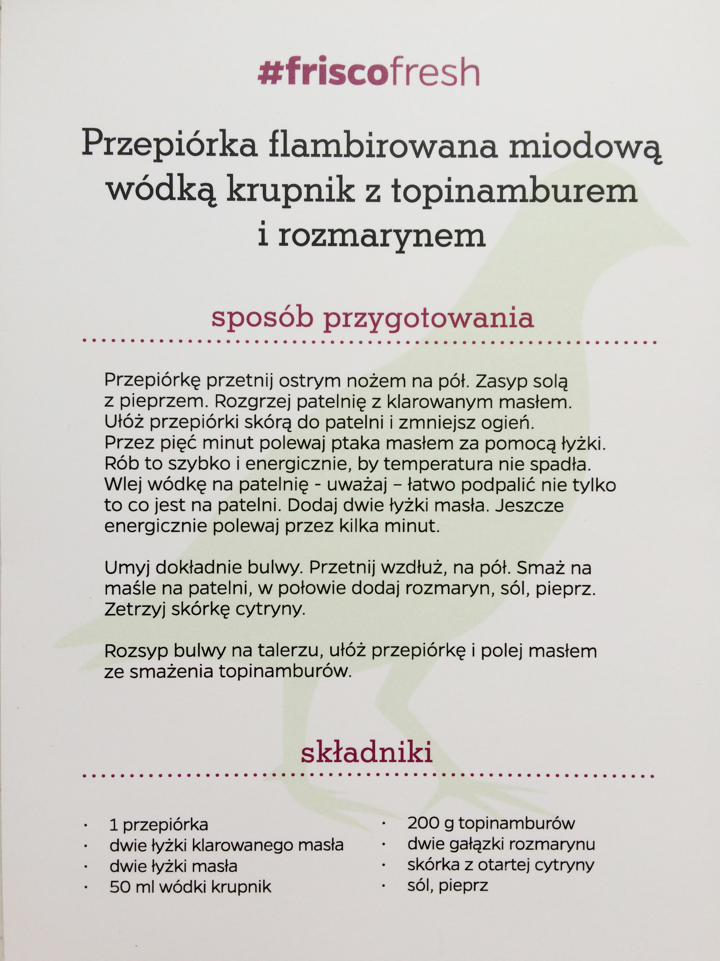 Frisco Fresh! Przepiórka - Aleksander Baron