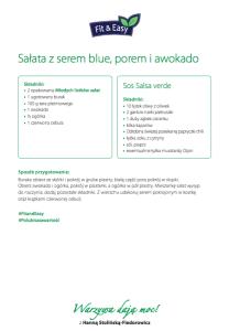 Sałata z serem blue